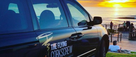 Flying Corkscrew Wine Tour logo